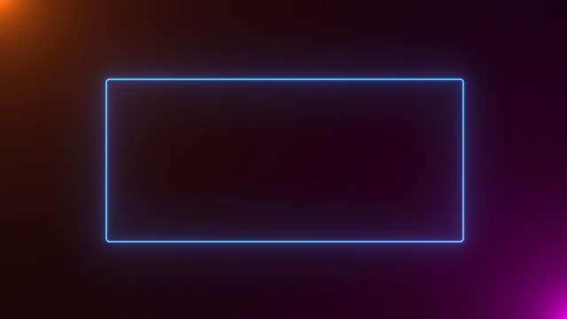 4k abstract neonleucht-farbe, die nahtlose kunstschleife hintergrund abstrakte bewegungsbildschirm-animierte box-formen. loop linien farbenfrohes design, looped-animation. - rechteck stock-videos und b-roll-filmmaterial