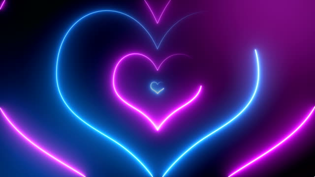 Abstract Neon Hearts (Loopable)
