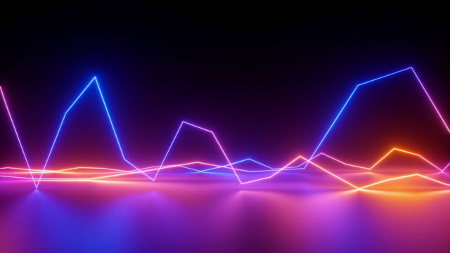 abstract neon lines background, equalizer, chart, ultraviolet spectrum, looped animation abstract neon lines background, equalizer, chart, ultraviolet spectrum, looped animation exhibition stock videos & royalty-free footage
