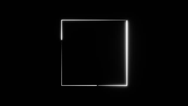 abstrakte neon quadratischen rahmen. - quadratisch komposition stock-videos und b-roll-filmmaterial