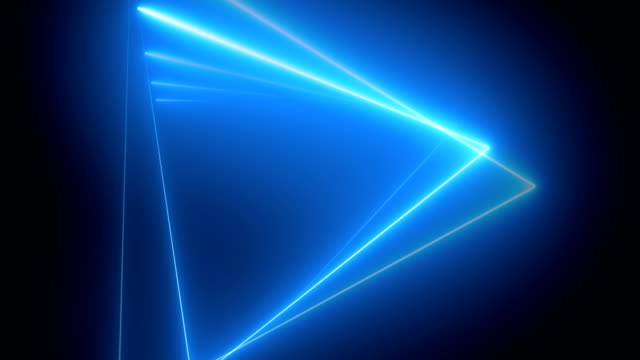 Abstract Neon Triangle Shape 4K Backgrounds Multicolored Loopable.