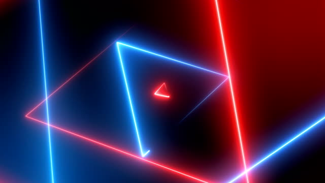 Abstract Neon Triangles  (Loopable) Soft Background laser stock videos & royalty-free footage