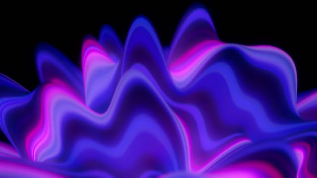Abstract Neon Waves. Abstract Neon Waves. 4K Seamless Loop. pulsating stock videos & royalty-free footage