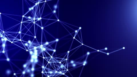 sfondo di rete astratto. loop senza soluzione di continuità. - network video stock e b–roll