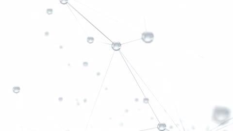 vídeos de stock e filmes b-roll de abstract network or molecular structure - branco