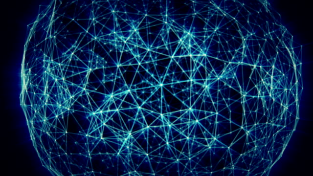 Abstract network sphere video