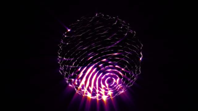 stockvideo's en b-roll-footage met abstracte lawaaierige bol met licht die stralen worden. - lichtbundel