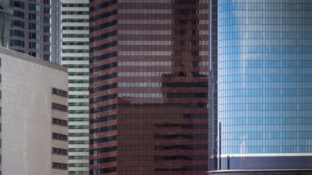 Abstract of Financial District Skyscrapers - Time Lapse video