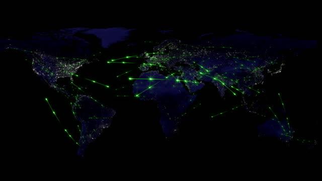 vídeos de stock, filmes e b-roll de resumo da rede mundial, internet e o conceito de conexão global - rússia