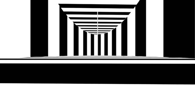 abstrakte optische kunst. schwarz / weiß-linien. nahtlose schleife - karo stock-videos und b-roll-filmmaterial
