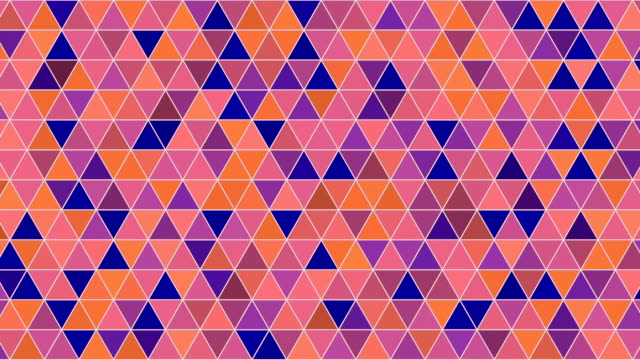 Abstract orange shades geometric triangle pattern 3d rendering Abstract loopable animation orange shades geometric triangle pattern 3d rendering mosaic stock videos & royalty-free footage