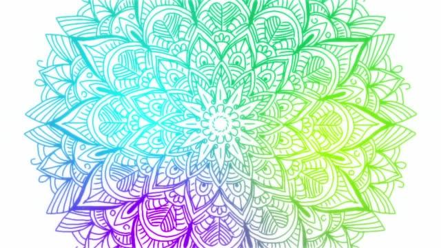 stockvideo's en b-roll-footage met abstracte versiering digitale hand getekend mandala beeldmateriaal. floral vintage tattoo decoratieve elementen oosterse islam patroon. - mandala
