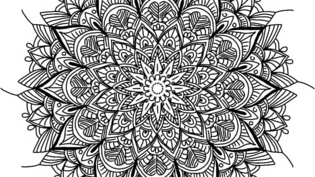 vídeos de stock e filmes b-roll de abstract ornamental digital hand drawn mandala footage. floral vintage tattoo decorative elements oriental islam pattern. - mandala