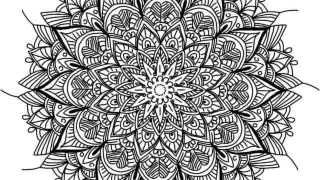 abstract ornamental digital hand drawn mandala footage. floral vintage tattoo decorative elements oriental islam pattern. - мандала стоковые видео и кадры b-roll