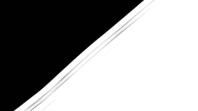 vidéos et rushes de peinture abstraite brosse course diagonale transition noir et blanc fond, animation des éclaboussures de peinture - pinceau