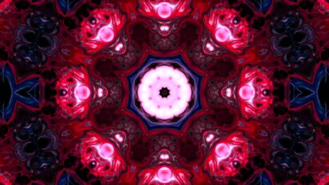 vidéos et rushes de peinture abstraite brush ink concept lisse modèle symétrique kaléidoscope décoratifs ornementaux mouvement cercle inscrit et formes étoiles - psychédélique