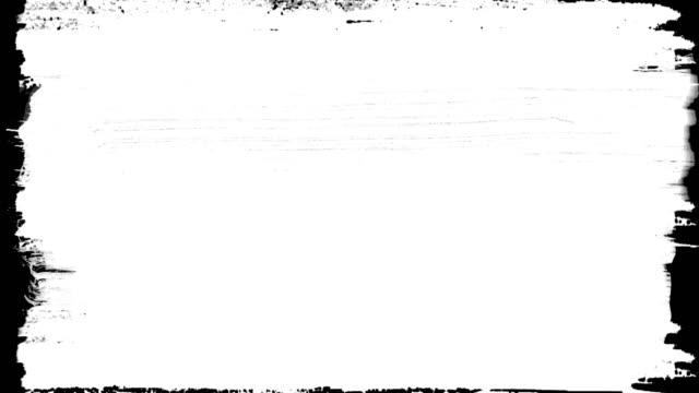vidéos et rushes de peinture abstraite brosse avc transition noir et blanc fond, animation des éclaboussures de peinture avec alpha - pinceau