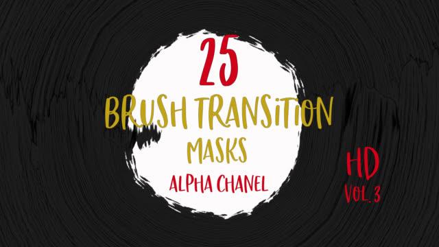 abstract paint brush stroke grunge transition mit vielen schlägen. - spruchband stock-videos und b-roll-filmmaterial
