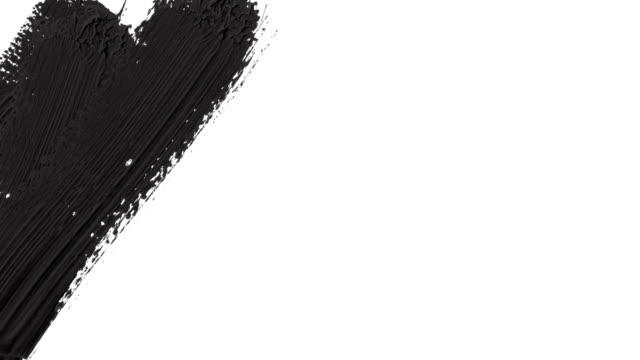vidéos et rushes de résumé d'un canal alpha (transparence) paint brush stroke transition de pentecôte. - pinceau