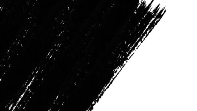 vidéos et rushes de les transitions abstraites de pinceau révèlent avec luma matte - transparence. - pinceau