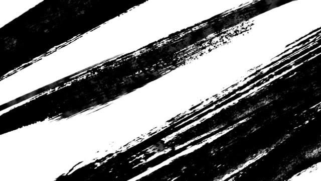 vidéos et rushes de brosse de peinture abstraite - pinceau