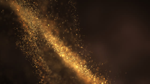 Abstract Particle Background (Gold) - Loop