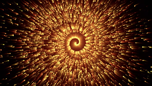 Abstract Particle Spiral Background 4K Loop