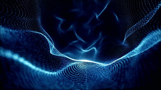 vídeos de stock, filmes e b-roll de abstrato partículas - organic shapes