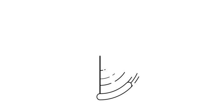 abstract pendulum flat motion design.logo animation with flat line style - balance graphics video stock e b–roll
