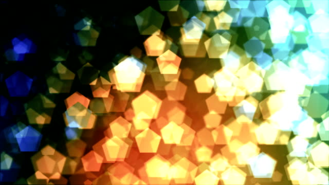 Abstract pentagon bokeh loopable background video