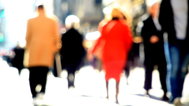 Abstract people walking video