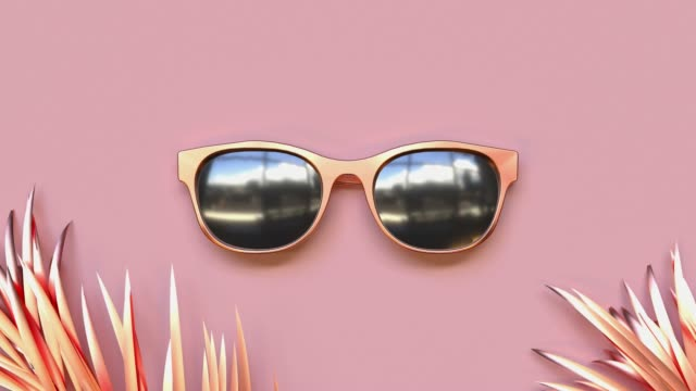 abstract pink scene summer  sea beach concept  gold object decoration 3d rendering