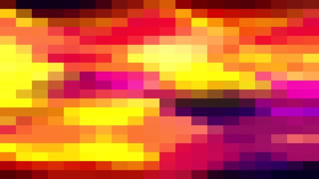 vidéos et rushes de bloc de pixel abstraite mouvement animation fond de boucle parfaite nouvelle qualité mouvement universel dynamique animé rétro vintage coloré joyeuse danse musique vidéos - mosaïque