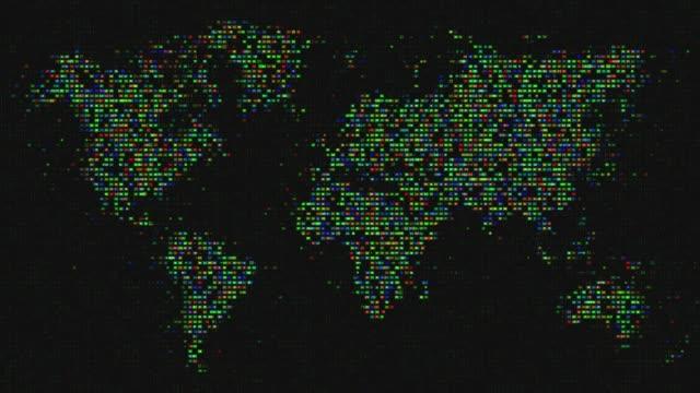 vídeos de stock, filmes e b-roll de terra abstrata do planeta loopable - país área geográfica