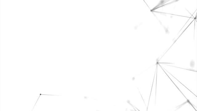 abstrakta plexus lyx och titlar nätverk av anslutna linjer och punkter partiklar. nätverk anslutningar mjuk ren corporate business presentation sömlös loop bakgrund. - nod bildbanksvideor och videomaterial från bakom kulisserna