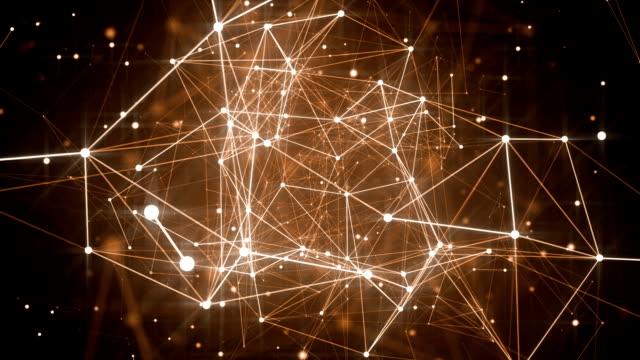 abstrakta plexus former. digital, teknik och kommunikation bakgrund. loopas - på gränsen bildbanksvideor och videomaterial från bakom kulisserna