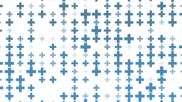 abstract plus sign pattern background.element shape texture.blue square pattern bakground - semplicità video stock e b–roll