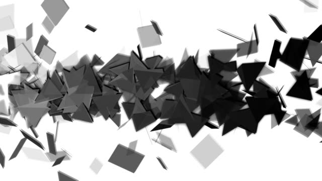 abstract polygon background animation - black and white architecture stock videos & royalty-free footage