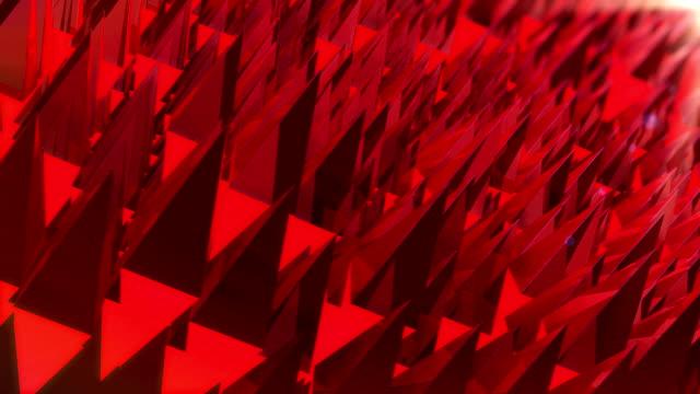 抽象的なポリゴンの背景のアニメーション - 尖っている点の映像素材/bロール