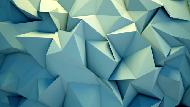 Abstract polygon crystallized background video