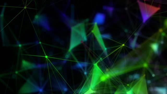 ドットと線を接続する抽象的な多角形空間の背景 - 斑点点の映像素材/bロール