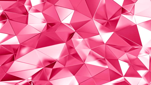 Abstract polygonal Valentine background animation