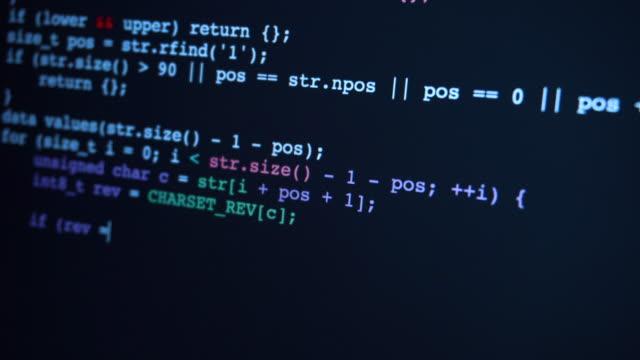 soyut program kodu sanal alanda yazılır ve taşınır. - www stok videoları ve detay görüntü çekimi