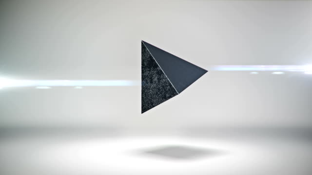 Abstract pyramid rotate animation video