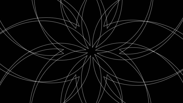 Abstract Radiating Spirograph Pattern Background Loop video