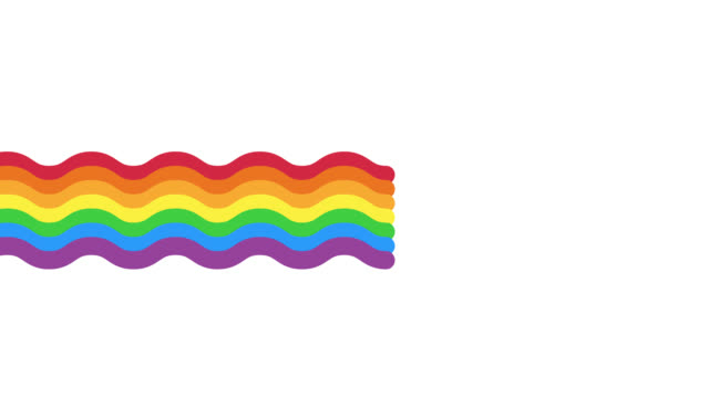 Abstract rainbow wave moving with alpha channel video.Graphic art colorful rainbow wavy.Funny cute rainbow animation Abstract rainbow wave moving with alpha channel video.Graphic art colorful rainbow wavy.Funny cute rainbow animation rainbow stock videos & royalty-free footage
