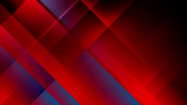 赤青ハイテク最小限のビデオ アニメーションを抽象化します。 - 連続文様点の映像素材/bロール