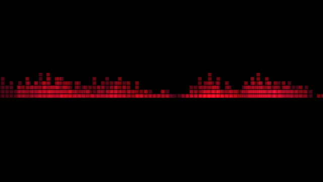 Abstract red sound waveform. Audio equalizer. Loop, 4K. Abstract red sound waveform. Audio equalizer. Loop, 4K. musical theater stock videos & royalty-free footage