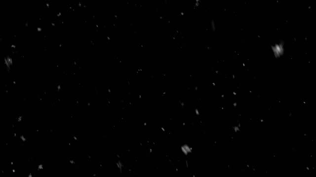 abstract rendom snowflakes falling on black background - śnieg filmów i materiałów b-roll