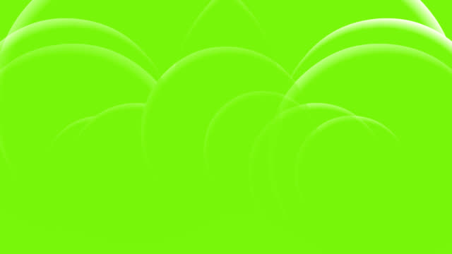 Abstract Rings on Green Background video